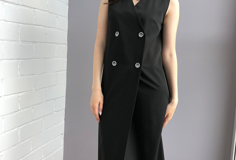 Двубортное платье-жилет