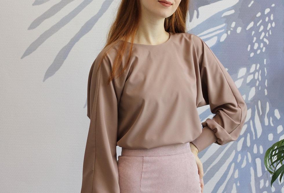 Блузка с цельнокроеным рукавом