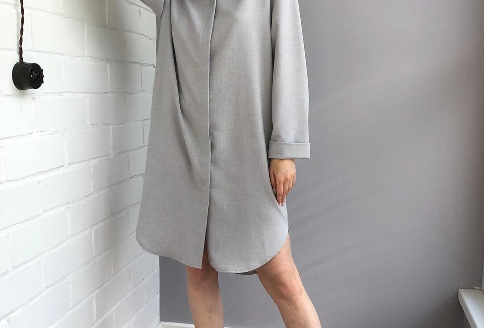 Платье-рубашка изо льна
