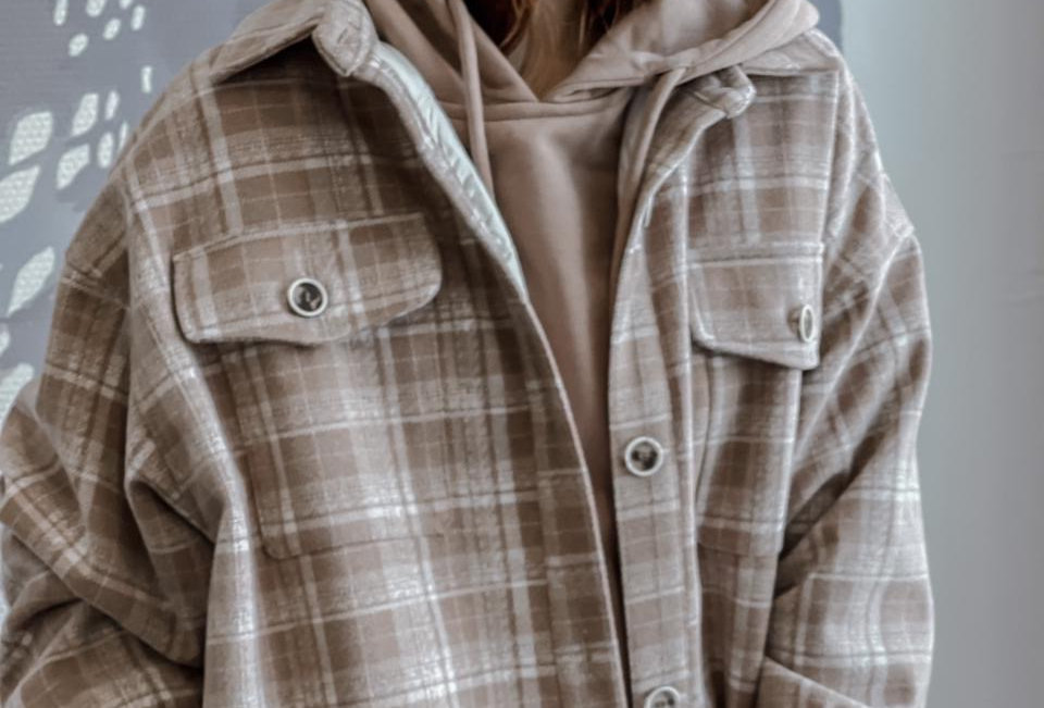 Пальто-рубашка из драпа
