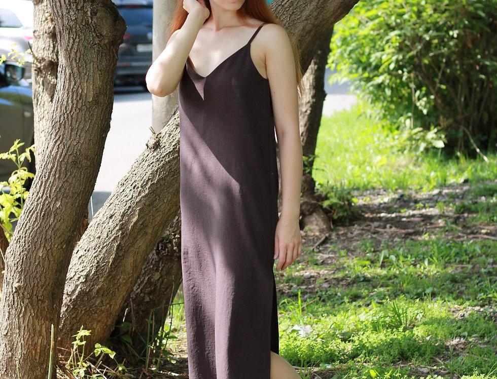 Платье комбинация изо льна