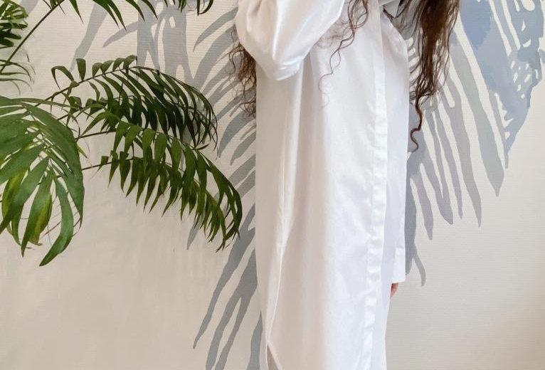 Удлиненная рубашка из хлопка