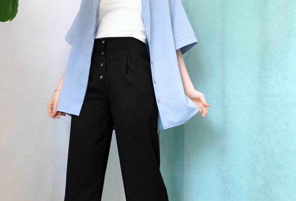 Рубашка с коротким рукавом изо льна