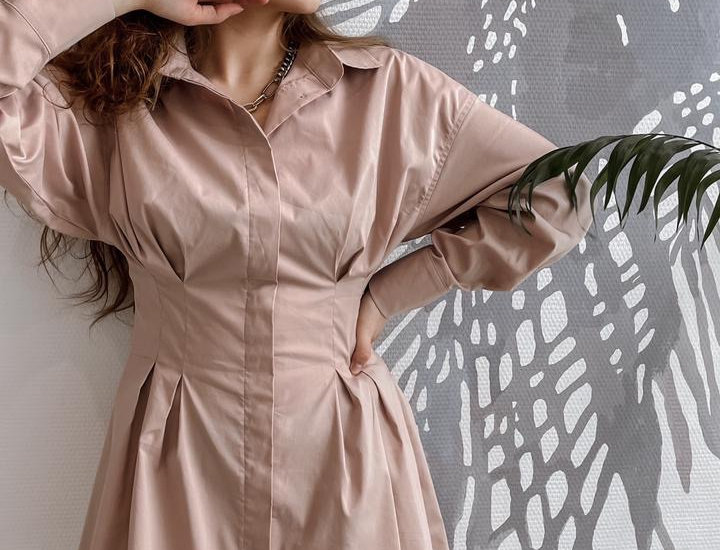 Платье-рубашка «под корсет»
