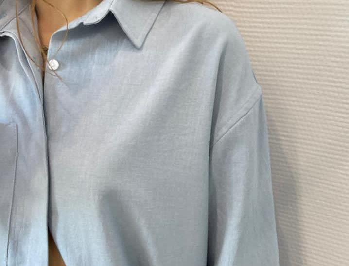 Рубашка с петлей изо льна