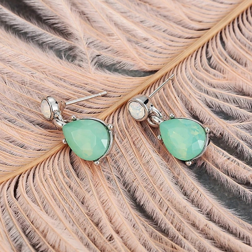 Green Opal Earrings