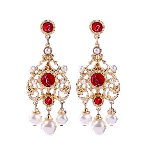 Pearls and Crystal Earrings