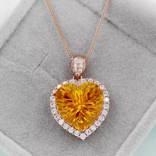 Citrine Rose Gold Necklace