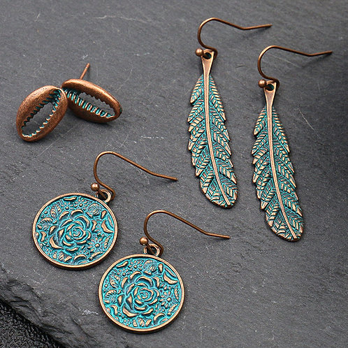 Turquoise and Bronze 3 Pack