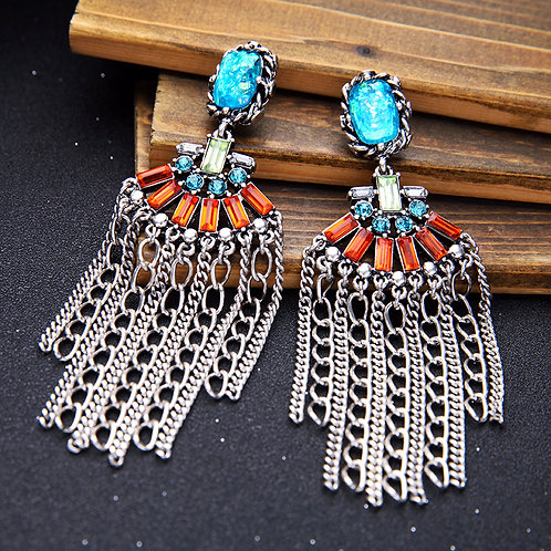 Boho Tassel Chain Earrings