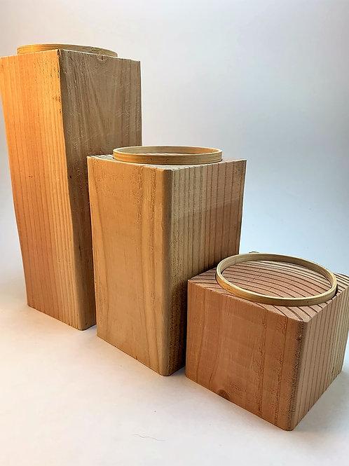 Unfinished wood block-DIY-candle holder set-pine-4x4-handmade