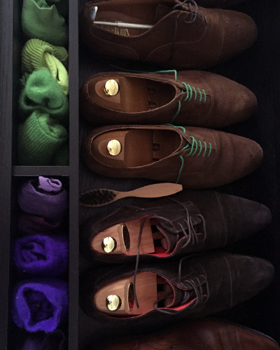 Shoes and socks have their own drawer