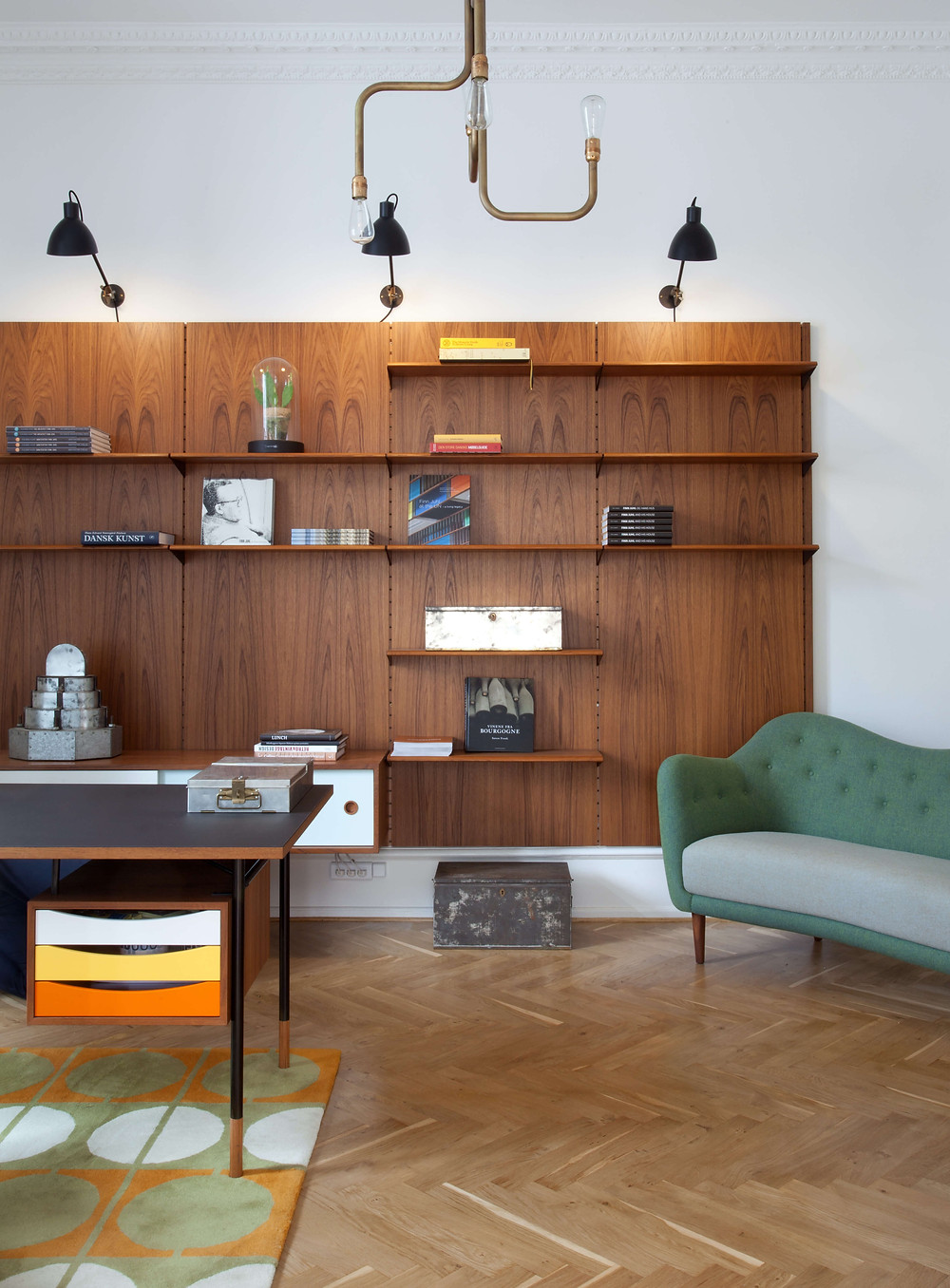 Home office with the Nyhavn Desk Walnut & Orange