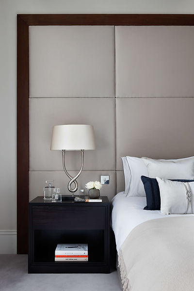 interior designer Kensington master bedroom