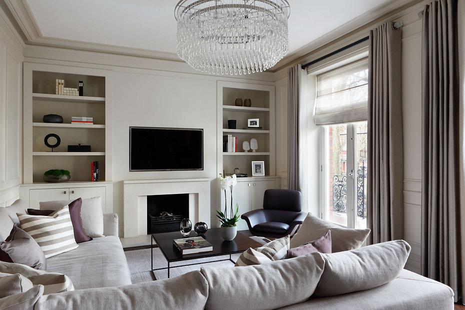 TV room renovation in Kensington