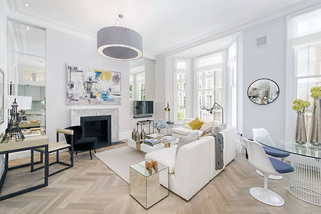 Wooden flooring for luxury renovation at Cathcart Road by London interior designer Catherine Wilman.