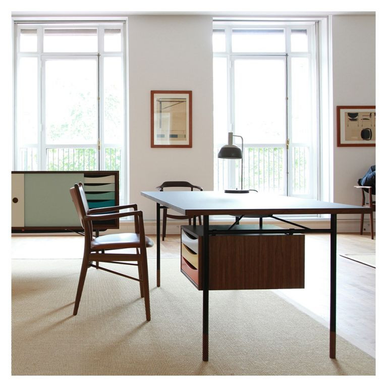 Nyhavn walnut desk by The Conran Shop for home office setup