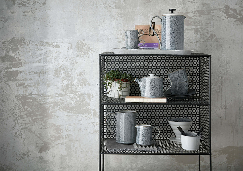 Denby's Studio Grey range includes jugs and a tea pot