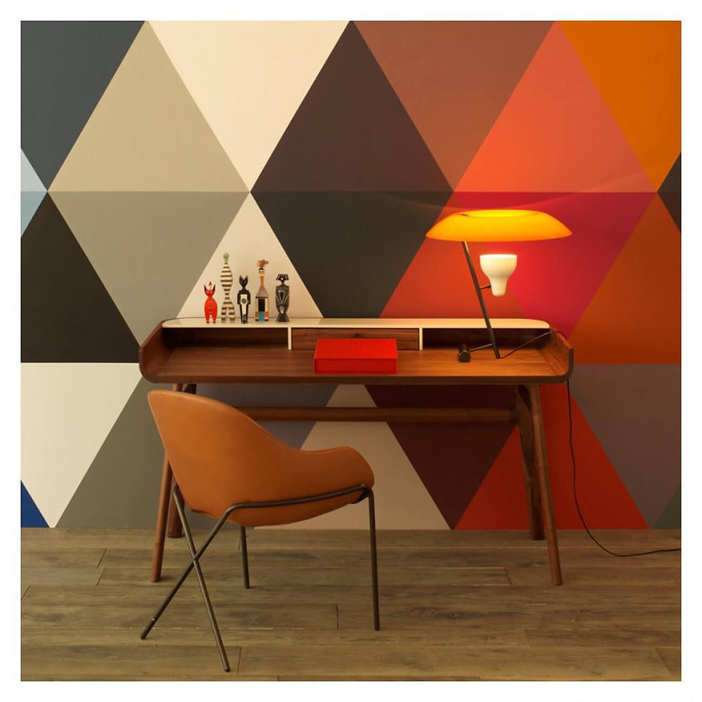 Home office desk, Harold, in walnut by Luca Nichetto for De La Espada at The Conran Shop