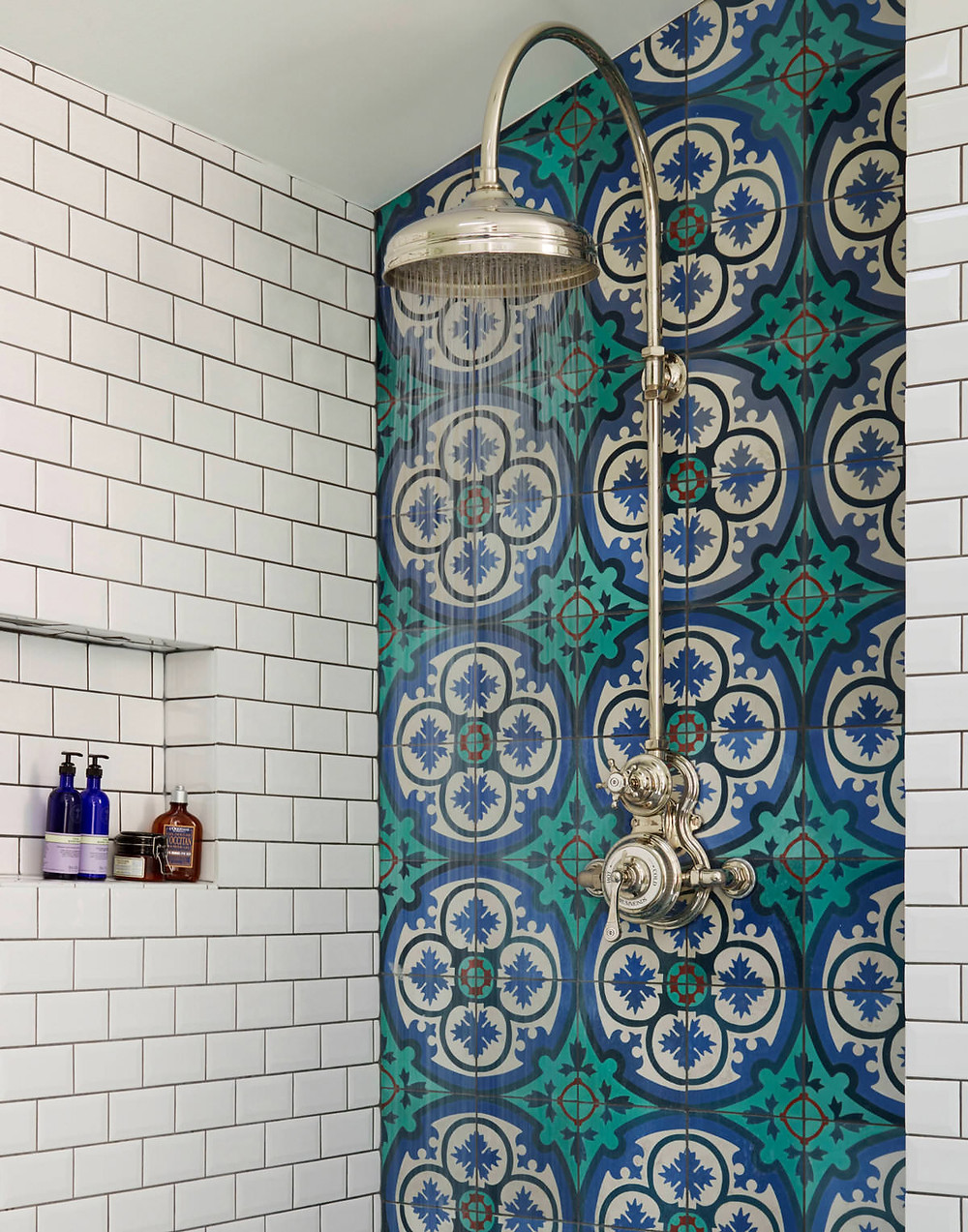 Luxury interiors: Dalby shower is set in a tiled walk-in enclosure
