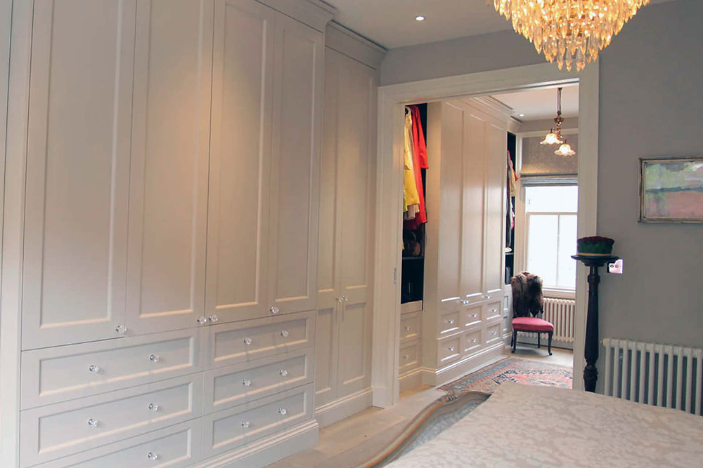 Bespoke wardrobe at a private residence in Chelsea