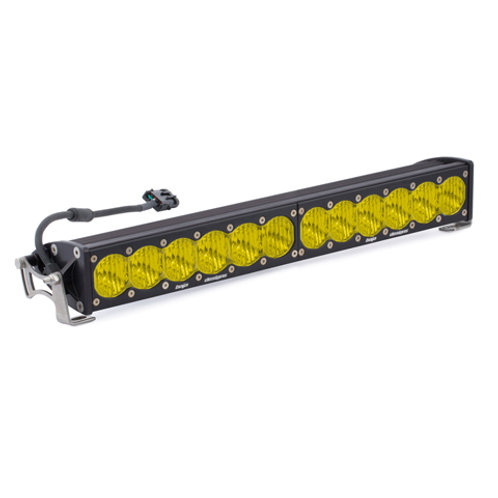 20 Inch LED Light Bar Single Amber Straight Wide Driving Pattern S8 Series