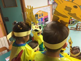 Girafes a l'escola
