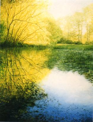 Exposition « palette de printemps » avec notamment les paysages de Robert Alcorn.