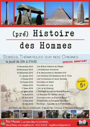 Conférence (Pré) Histoire des Hommes