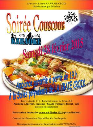 Soirée couscous karaoké - La Vraie Croix