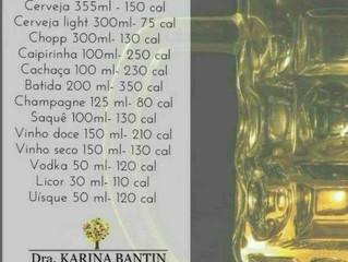 Quantas calorias tem aquela Cervejinha?