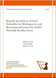 Benefit Incidence of Fuel Subsidies in M