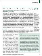 Universal Health Coverage in Turkey enha