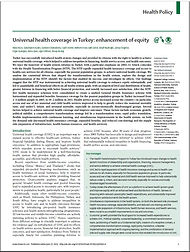 Universal Health Coverage in Turkey enha