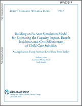 Building an ex-ante simulating model for