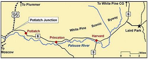 Potlatch Idaho Map.Regional Information City Of Potlatch Idaho United States