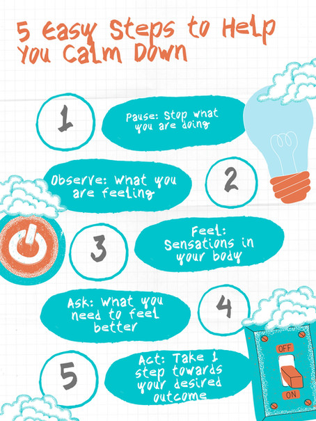 5 Easy Steps to Help You Calm Down