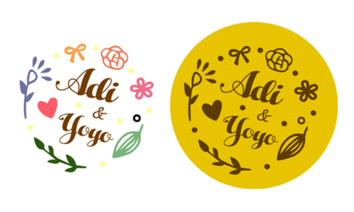 ☛ 婚禮設計|Adi & Yoyo 婚禮LOGO