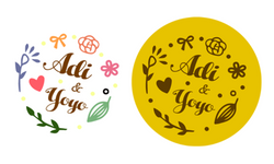 ☛ 婚禮設計 Adi & Yoyo 婚禮LOGO