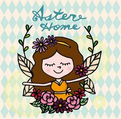 ☛ 插畫設計 Aster Home FB大頭照
