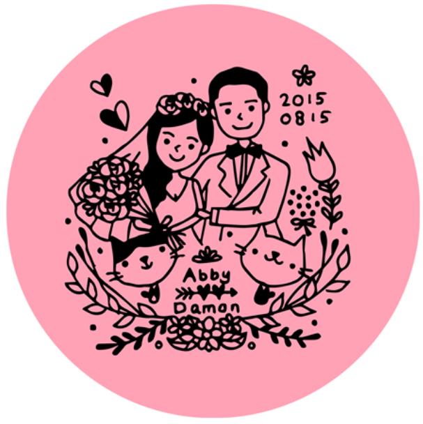 ☛ 婚禮設計|Abby & Damon 婚禮LOGO
