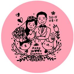 ☛ 婚禮設計 Abby & Damon 婚禮LOGO