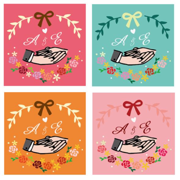 ☛ 婚禮設計|A & E 婚禮喜糖鐵盒包裝