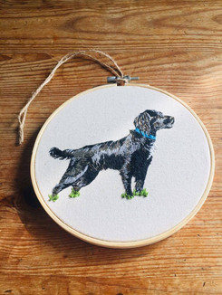 Field Spaniel Wall Hanging Commission