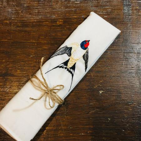 Swallow handkerchief