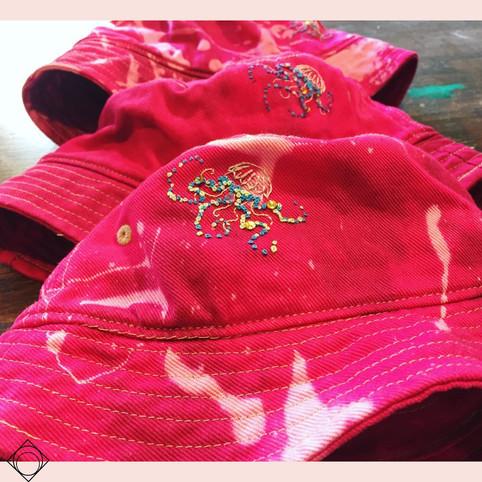 Tie Dyed Jellyfish Bucket Hats