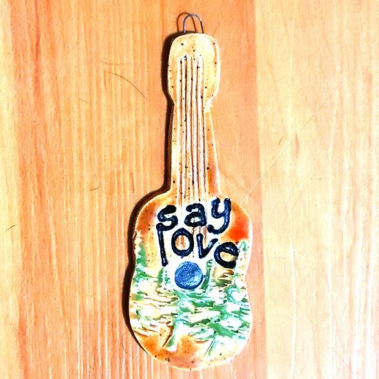 Say Love Guitar Ornament
