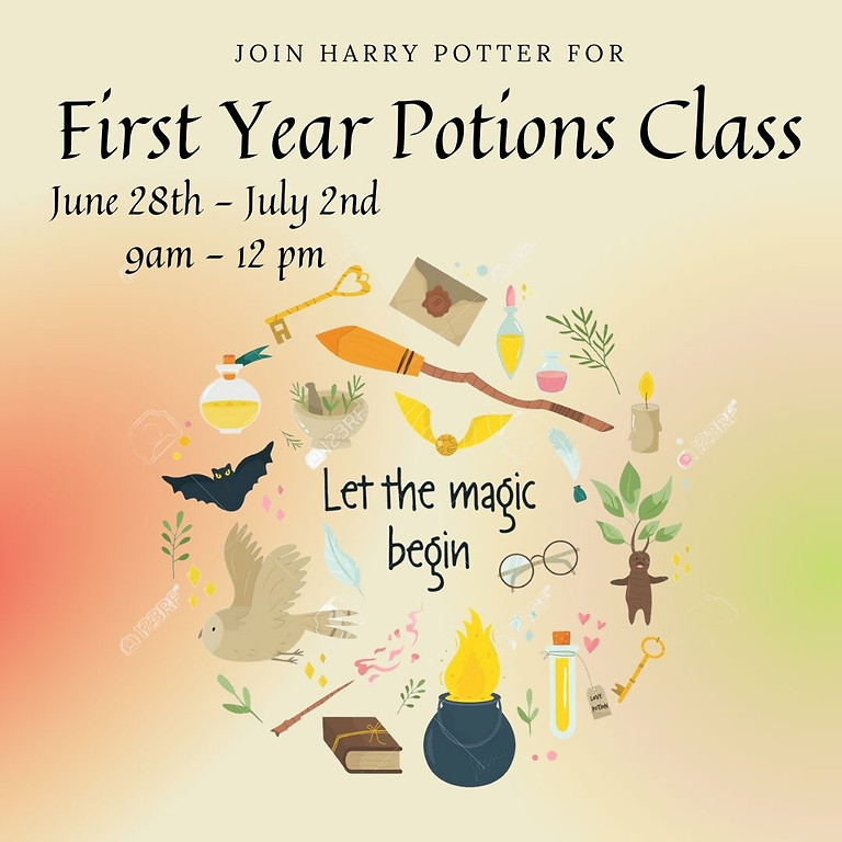 First Year Potions Class Pottery Camp