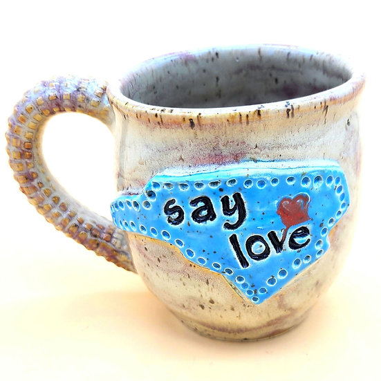 """Say Love"" NC Mug"