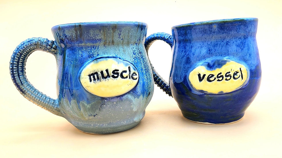 """Muscle & Vessel"" Mug Set"